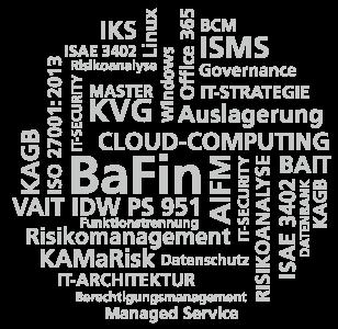 Wordcloud: BaFin ~ KAIT Solutions ~ IT-Dienstleistungen von oraïse für den Finanzmarkt